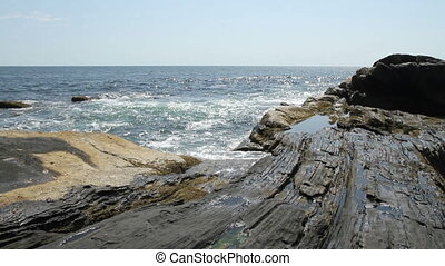 Rocky Sea Shore Maine USA Seven