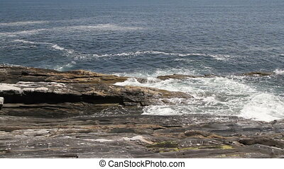 Rocky Sea Shore Maine USA Twelve