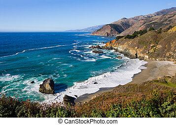 California Coast - Rocky shore at California Coast