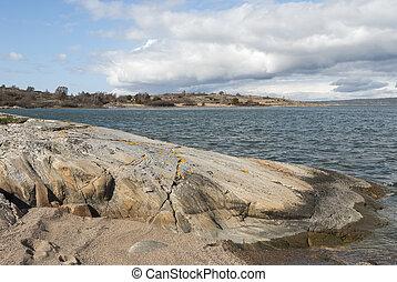 Rocky shore at the coast