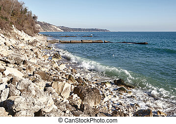 rocky shore Black Sea