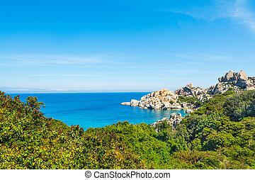 Rocky shore in Capo Testa, Sardinia