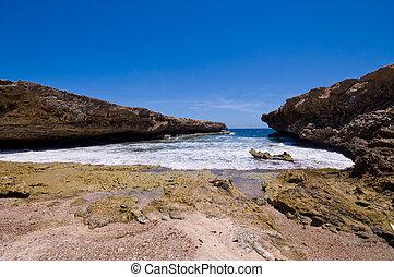 rocky shore inlet shete boca national park - rocky shore...