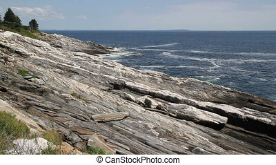 Rocky Shore Maine USA Eight