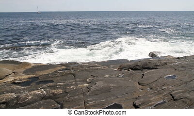 Rocky Shore Maine USA Four