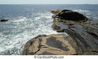 Rocky Shore Maine USA Two