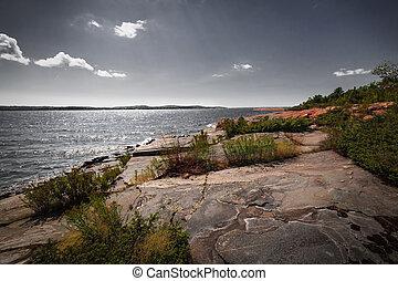 Rocky shore of Georgian Bay