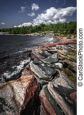 Rocky shore of Georgian Bay