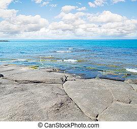 rocky shore in Sardinia, Italy