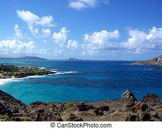 Rocky shore on Oahu