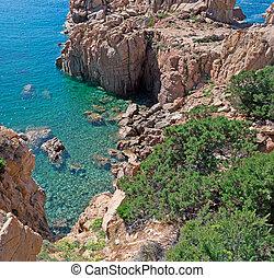 rocky shore in Costa Paradiso, Sardinia