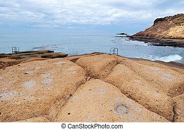 Rocky Shore  - Rocky shore beach with big boulders
