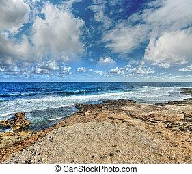 rocky shore in Argentiera, Sardinia