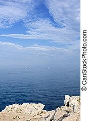 Rocky shore - Landscape of rocky shore on a sunny day