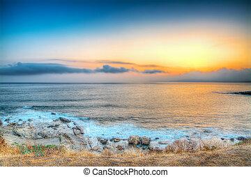 rocky shore - Alghero rocky shore at sunset