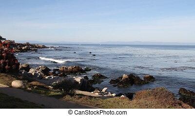 rocky shoreline Monterey Bay