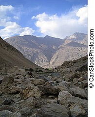 Rocky valley in the Hindu Kush