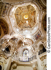 Rococo Church Detail - Church of Saint Nicholas in Prague, ...