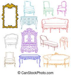 rococo furniture doodles - authentic rococo furniture ...