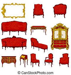 Rococo archivi di illustrazioni e clipart rococo for Mobilia uno furniture bahrain