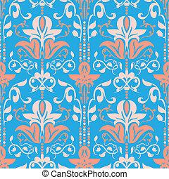Rococo Seamless Pattern Vector