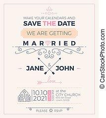 rocznik wina, ślub, karta, szablon, zaproszenie