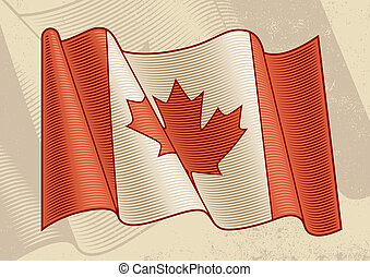 rocznik wina, bandera, kanadyjczyk
