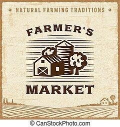 rocznik wina, farmer_s robią zakupy, etykieta