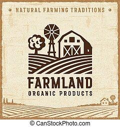 rocznik wina, farmland, etykieta