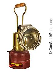 rocznik wina, górnictwo, biały, odizolowany, latarnia