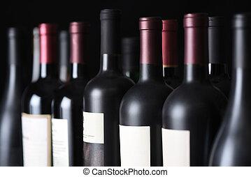 rocznik wina, hałas, butelki, wino