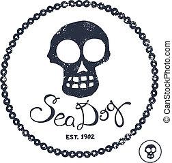 rocznik wina, ilustracja, morski