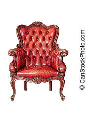 rocznik wina, krzesło, biały, odizolowany