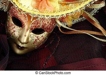 rocznik wina, maska, tło, karnawał, czarnoskóry