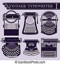 rocznik wina, maszyna do pisania