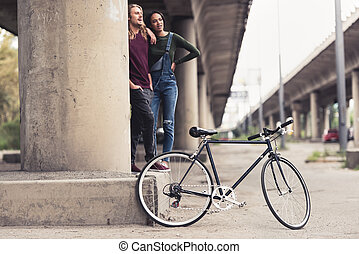 rocznik wina, para, rower