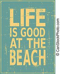 rocznik wina, plaża, afisz