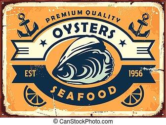rocznik wina, restauracja, ostryga, produkty morza, ostrygi, zagroda, albo, poznaczcie deskę