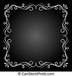 rocznik wina, srebro, frame.