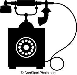 rocznik wina, stary telefon