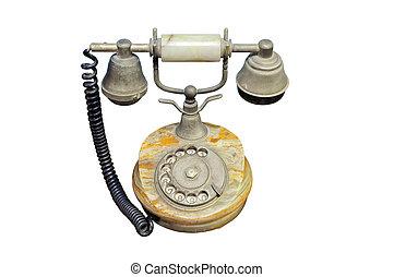 rocznik wina, stary telefon, odizolowany