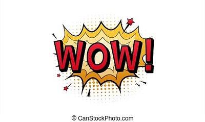 rocznik wina, szczególny, illustration., tekst, wow., symbol, komik, skuwka, pień, badge., oferta, reklama, bańki, rzeźnik, etykieta, rysunek, mowa