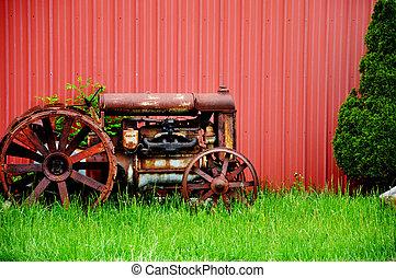 rocznik wina, traktor