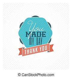 rocznik wina, ty, dziękować, karta