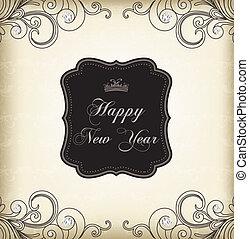 rocznik wina, ułożyć, (happy, year), nowy