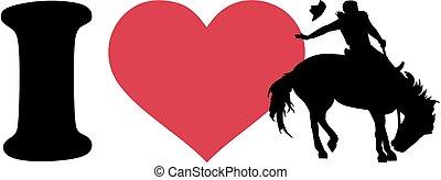 rodéo, amour, cow-boy