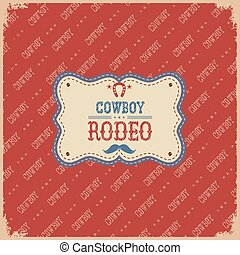 rodéo, cow-boy, card.