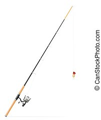 rod spinning for fishing vector illustration isolated on...