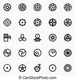 roda, ícones