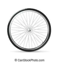roda bicicleta, vetorial